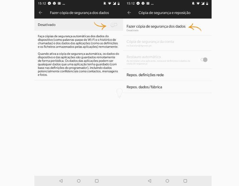 Android Oreo Backup Google mensagens SMS segurança cópia