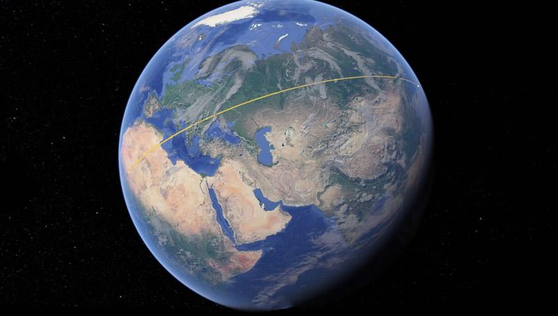 Google Earth para Android e Chrome já mede distâncias e áreas