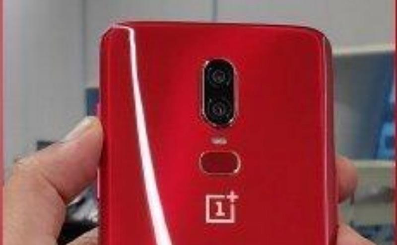 OnePlus 6 em vermelho: Imagem mostra-nos a traseira do smartphone