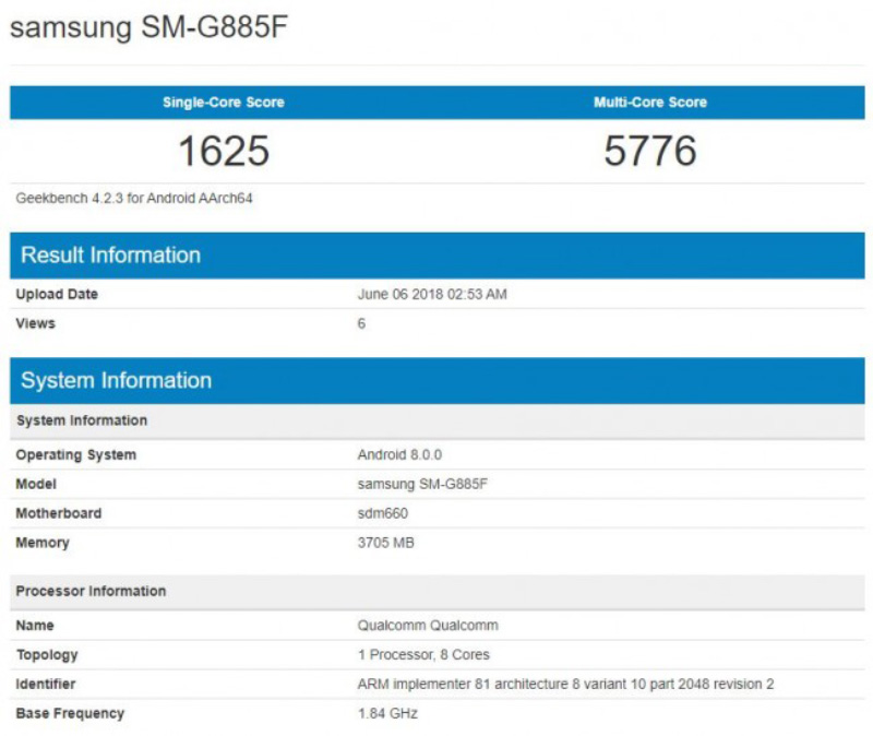 Samsung Galaxy A9 Star Andorid Oreo