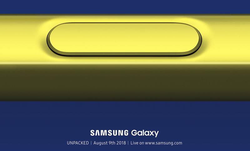 É oficial! Samsung Galaxy Note 9 será apresentado no dia 9 de agosto
