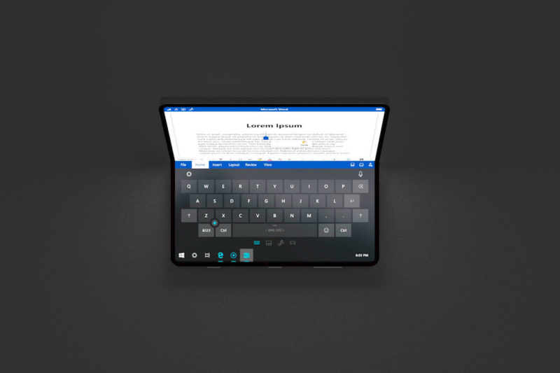 Surface Andromeda Phone Microsoft Windows 10 Concept Andromeda OS