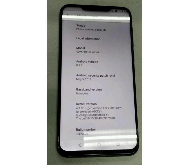 Meizu X8 smartphone Android Oreo Google