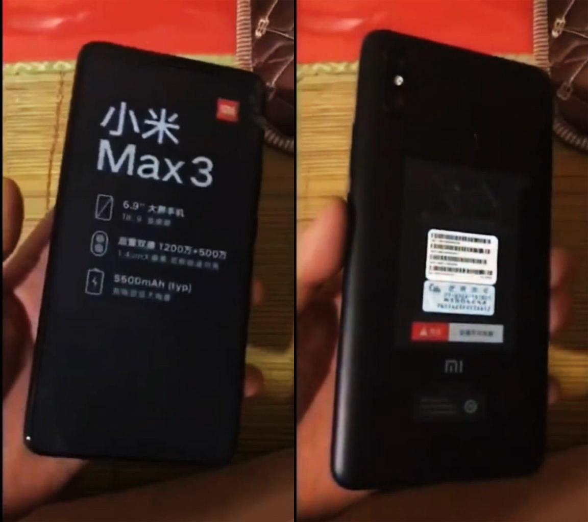 Xiaomi Mi MAX 3 Android Oreo MIUI 10