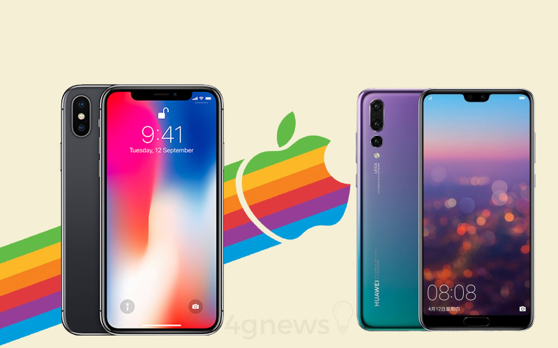 Apple iPhone X Huawei P20 Pro Android