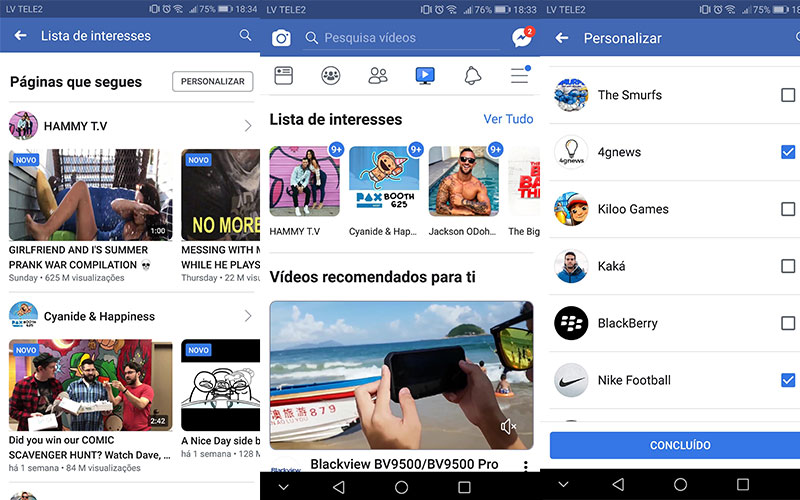 Facebook Watch YouTube Google 4gnews