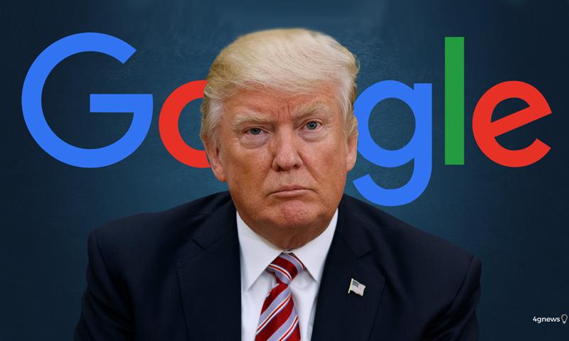 Donald Trump ataca a Google e os resultados de pesquisa