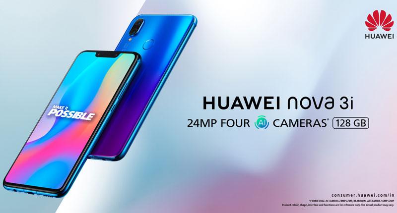 Huawei Nova 3i selfies flash sale 4gnews