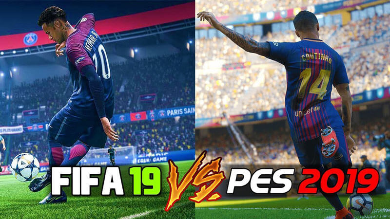 FIFA 19 vs PES 2019 4gnews