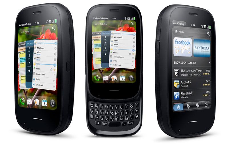 Os antigos smartphones da Palm