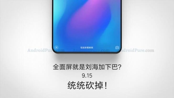 Xiaomi Mi Mix 3 chegará em setembro e sem margem inferior