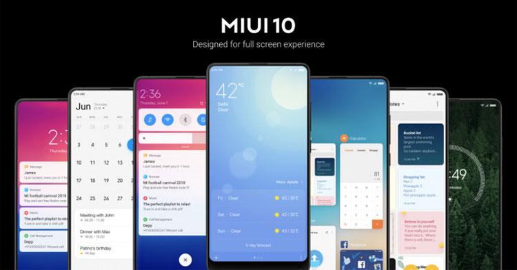 Xiaomi MIUI 10 smartphone android 4gnews