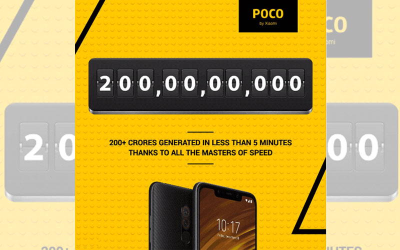 Xiaomi Pocophone F1 recorde flash sale smarpthone android 4gnews