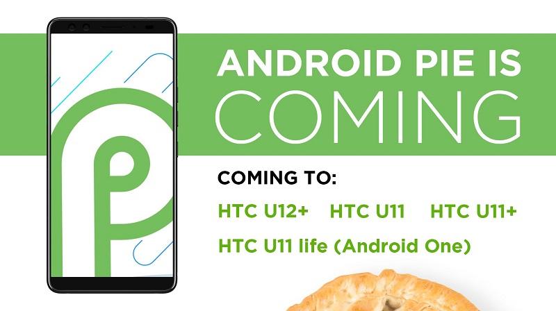 Android Pie HTC smartphones