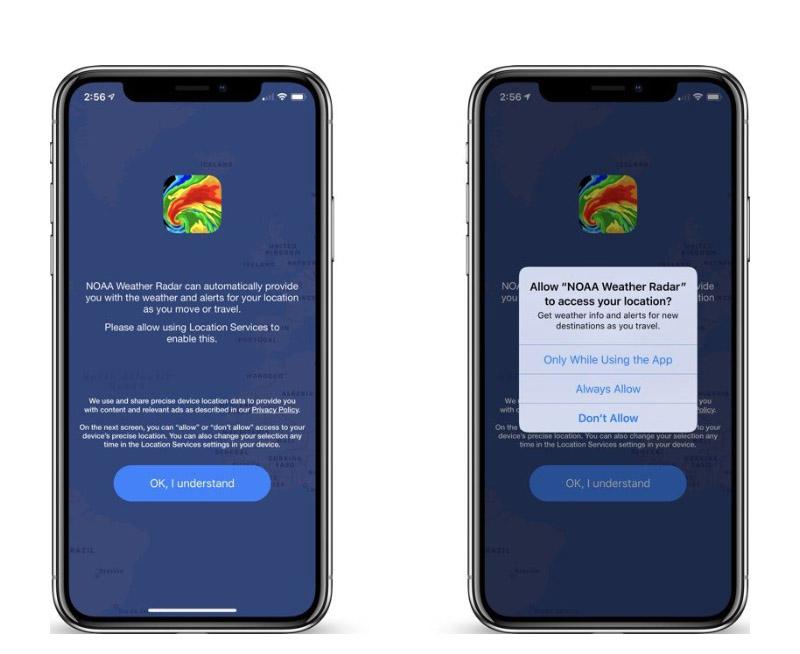 Apple iPhone iOS localização