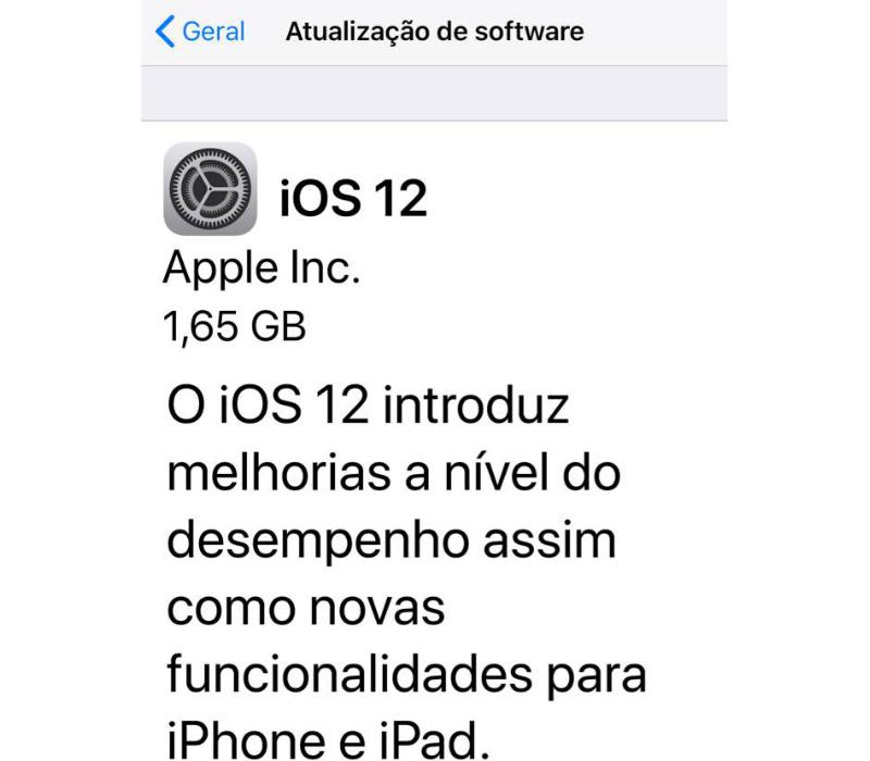 Apple iPhone iPad iOS 12