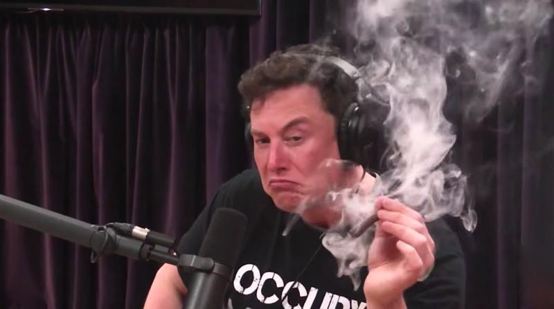 Elon Musk CEO da Tesla erva ganza 4gnews Youtube