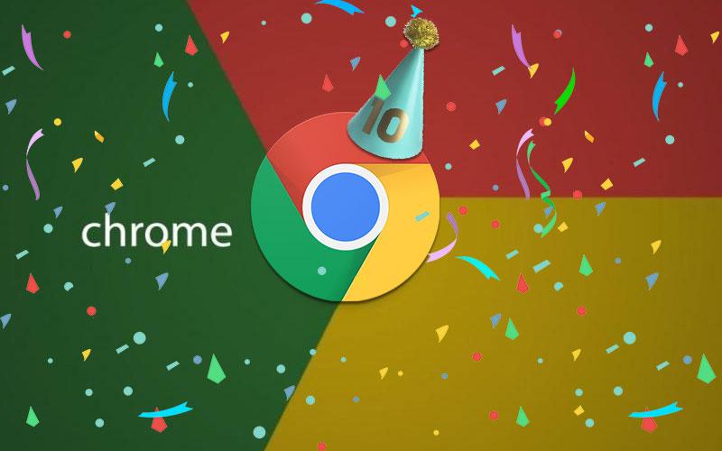 Google Chrome 10 anos 4gnews
