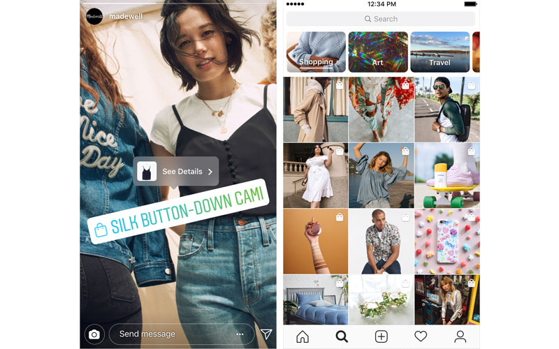 Instagram shopping rede social 4gnews compras online
