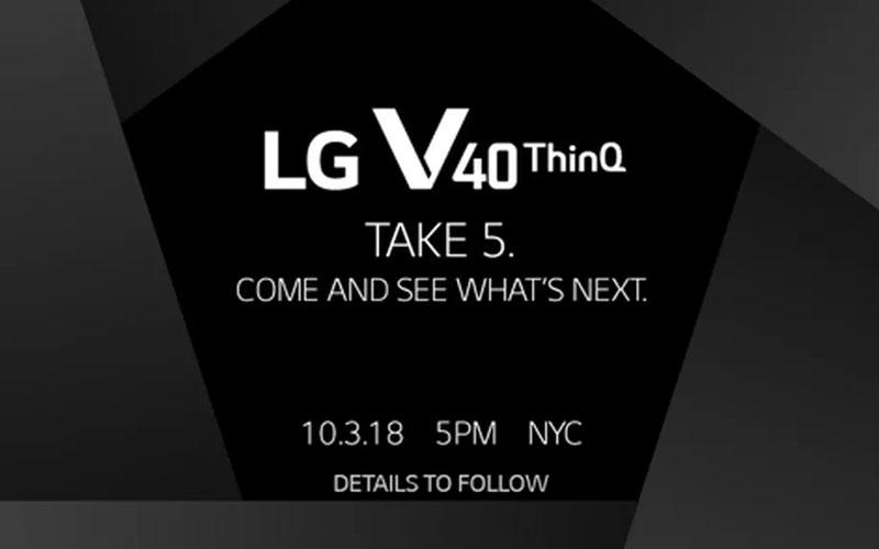 LG V40 ThinQ Take 5 Android topo de gama 4gnews