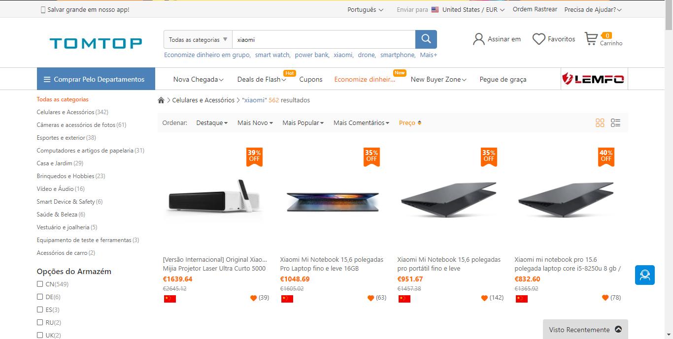 onde comprar Xiaomi