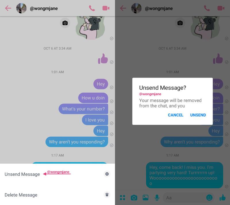 Facebook Messenger envio Android mensagens WhatsApp