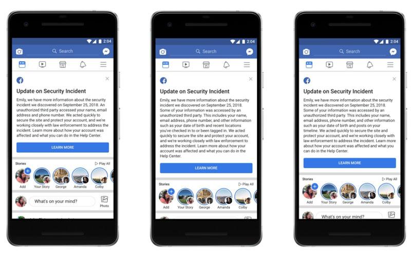 Facebook Alert ataque