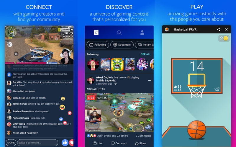 Facebook Gaming soliedariedade streams