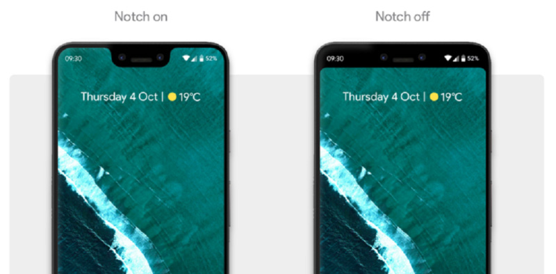Google Pixel 3 XL Android Pie notch