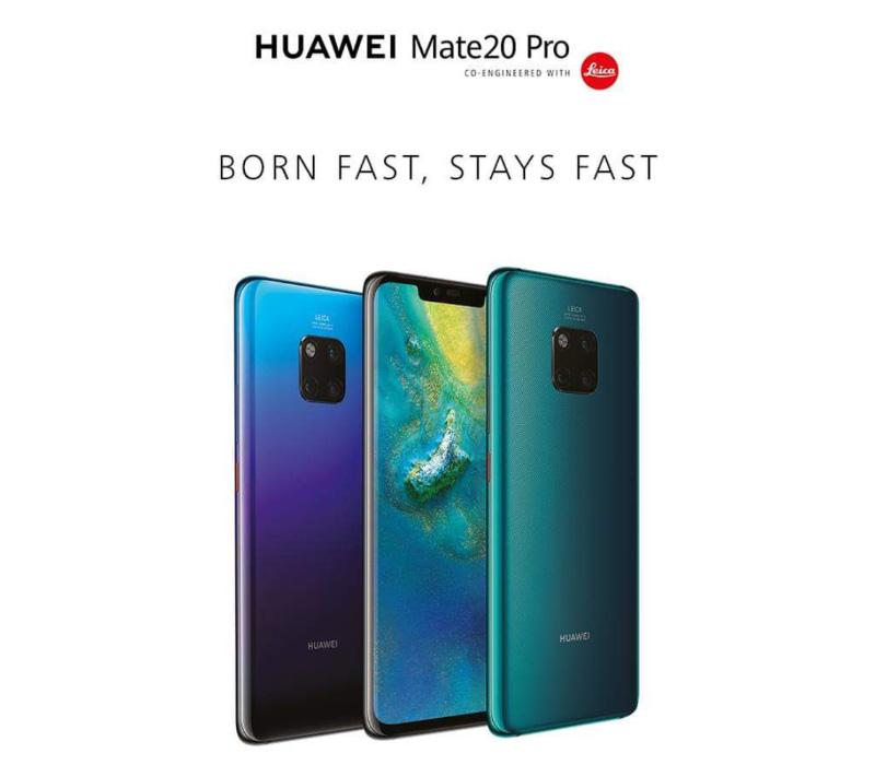 Huawei Mate 20 Pro Samsung Apple