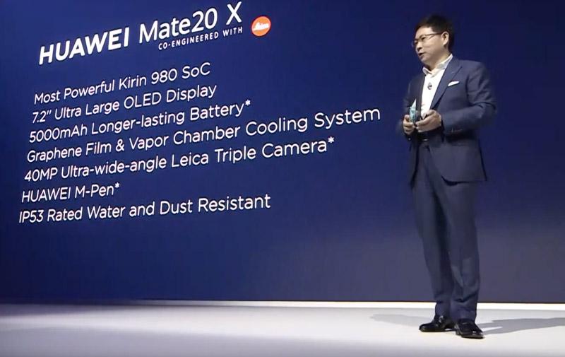 Samsung, Xiaomi e Nintendo Huawei Mate 20 X specs Androdi Pie