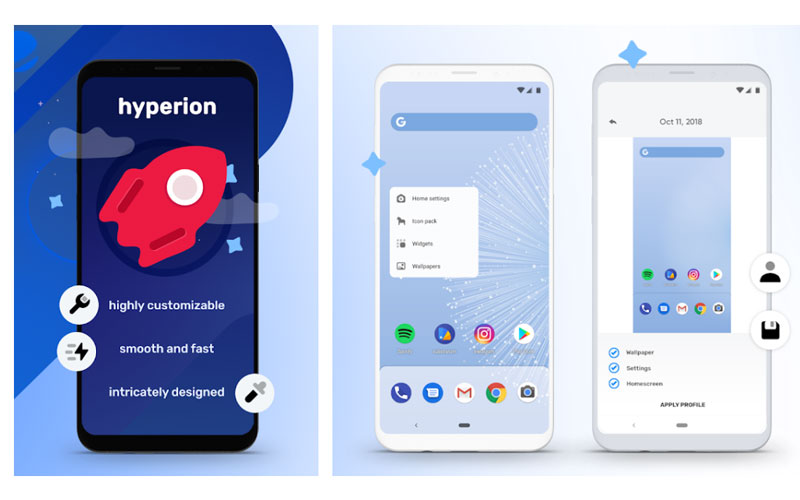 Hyperion Launcher Google Play Store