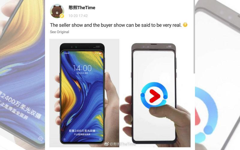 Xiaomi Mi Mix 3 moldura Android Pie