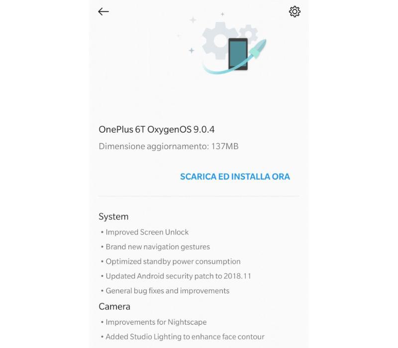 OnePlus 6T OxygenOS 9.0.4