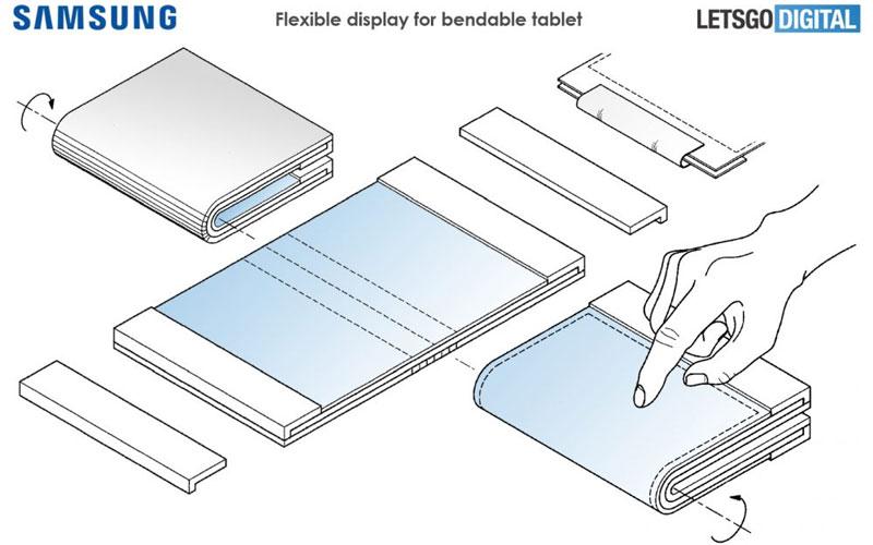 Samsung Tablet Dobravel smartphone computador portátil