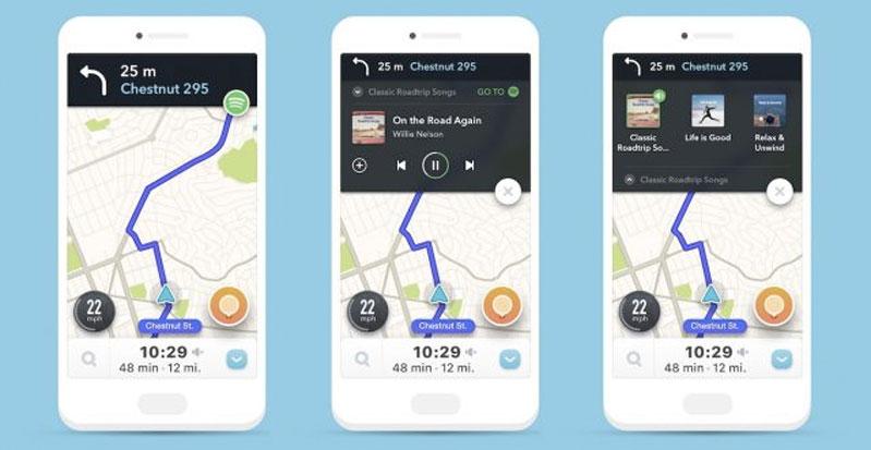 Waze Music Google Maps