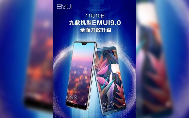 Huawei EMUI 9 Android Pie smartphones