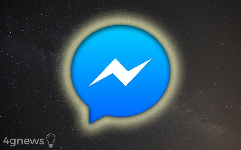 Facebook Messenger aplicação Android iOS dark mode