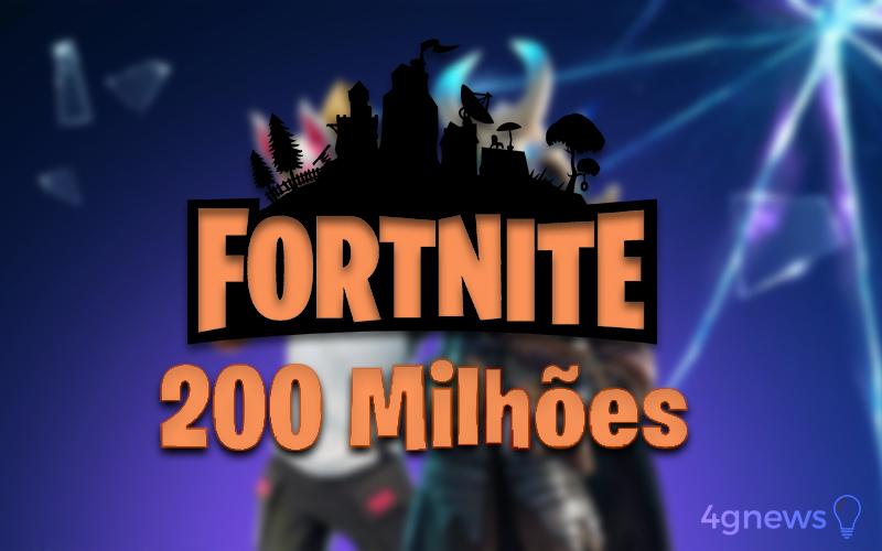 Fortnite 200 milhões de jogadores recorde Epic Games