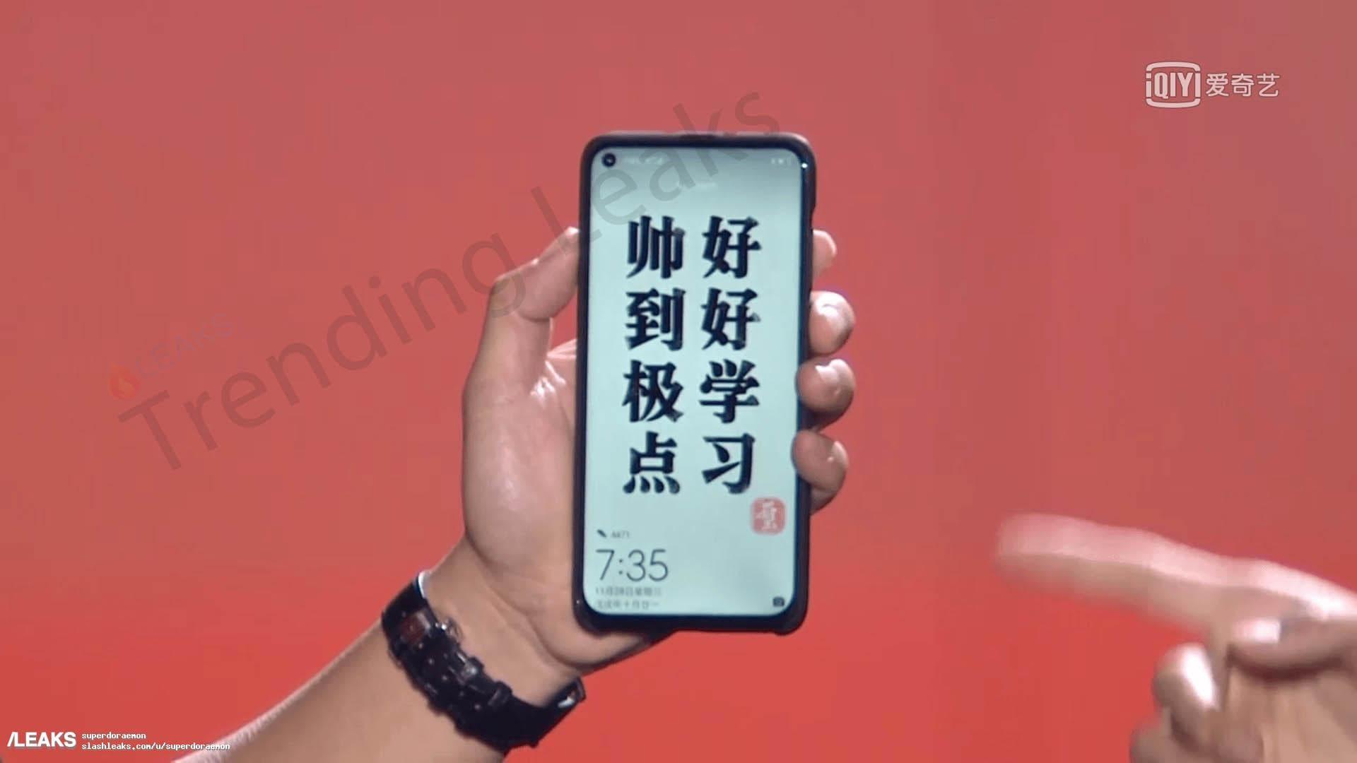 Huawei Nova 4: Imagem revela smartphone com buraco no ecrã