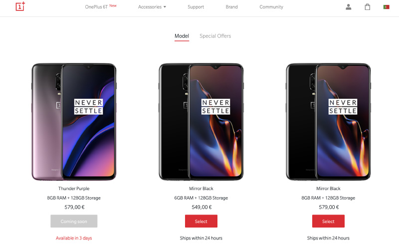 OnePlus 6T Thunder Purple Android smartphone