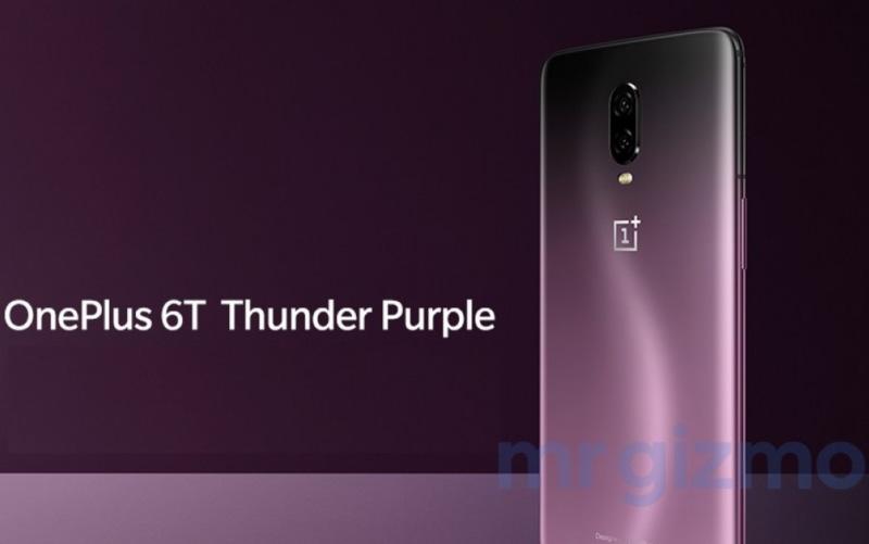 OnePlus 6T Thunder Purple smartphone