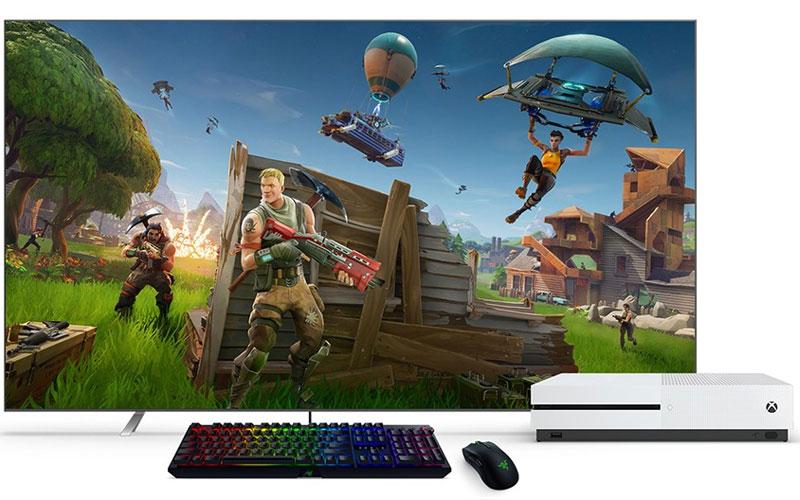 Xbox One Microsoft Rato e Teclado Fortnite