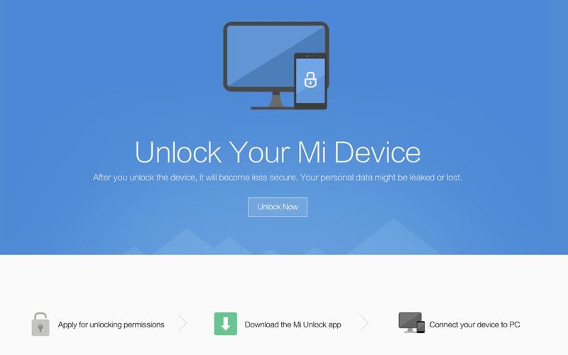 Xiaomi Desbloquear Bootloader smartphones MIUI