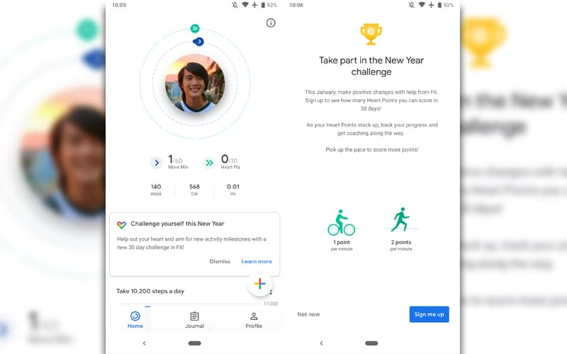 Google Fit 2019 desafios aplicação