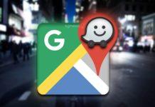 Google Maps Waze incidentes aplicação