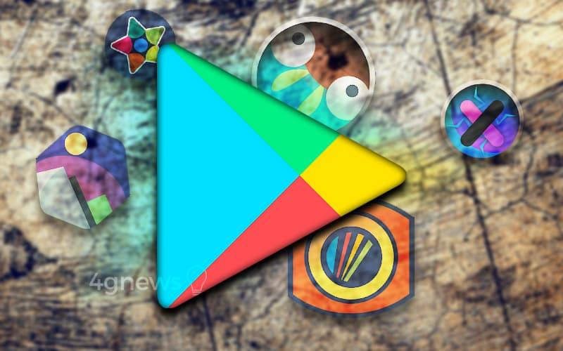 Google Play Store Paclk de ícones Premium