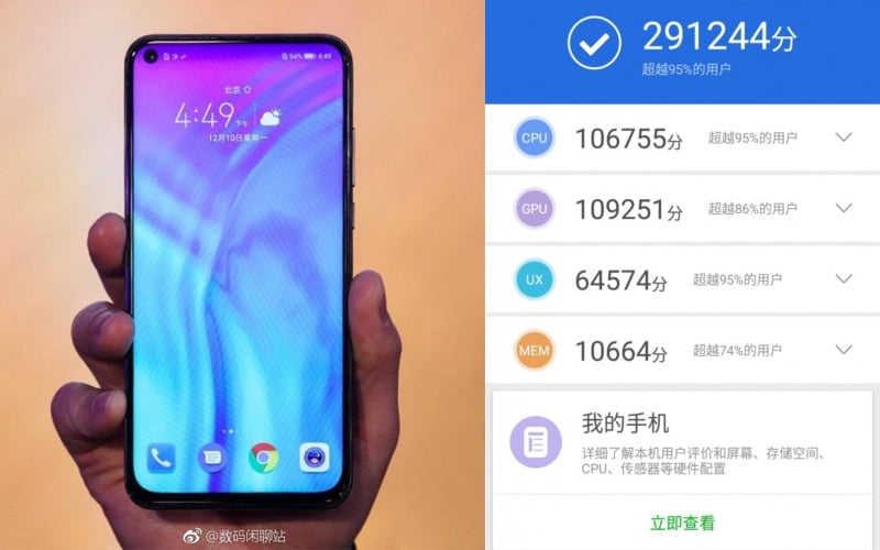Huawei Honor View 20 AnTuTu