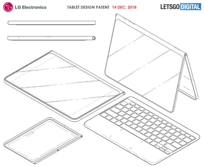 LG tablet dobrável smartphone dobrável Android 1