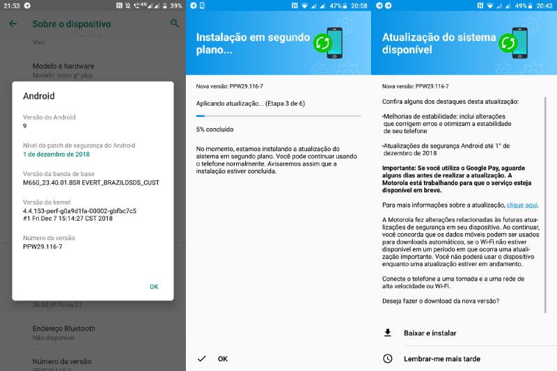 Motorola Moto G6 Plus Android Pie Brasil